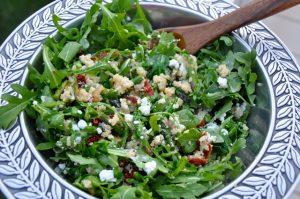 Olive~Me & Co's Quinoa Salad with Arugula, Dried Cranberries and Pistachio Balsamic