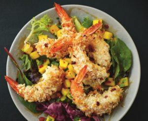 x Coconut Shrimp Salad With Spicy Mango & Cilantro Salsa
